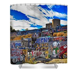 Castle Graffiti Art Shower Curtain