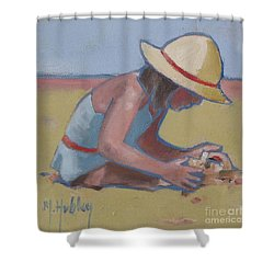 Castle Builder Beach Sand Castle Shower Curtain