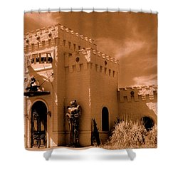 Shower Curtain featuring the photograph Castle By The Road by Rodney Lee Williams