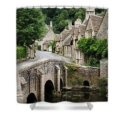 Castle Combe Cotswolds Village Shower Curtain