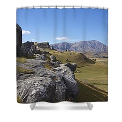 Castle Hill #6 Shower Curtain by Stuart Litoff