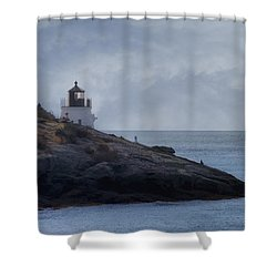 Castle Hill Dream Shower Curtain by Joan Carroll