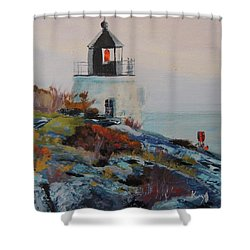 Castle Hill Lighthouse Newport Ri Shower Curtain by Patty Kay Hall