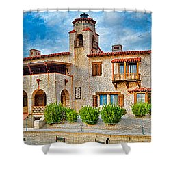 Castle In A Desert, Scottys Castle Shower Curtain by Panoramic Images