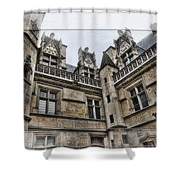 Castle In The Clouds Paris France Shower Curtain by Evie Carrier