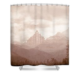Castle In The Mountains Shower Curtain