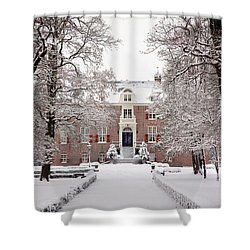 Castle In Winter Dress  Shower Curtain