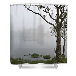 Castle Kilchurn Tree Shower Curtain by Gary Eason