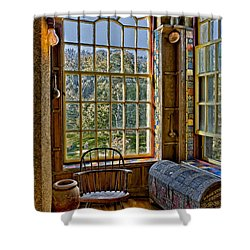 Castle Office Shower Curtain by Susan Candelario