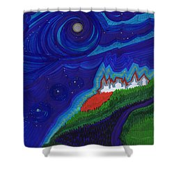 Castle On The Cliff By Jrr Shower Curtain by First Star Art