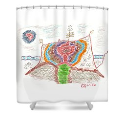 Castle Rose Shower Curtain