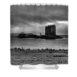 Castle Stalker Bw Shower Curtain by Gary Eason