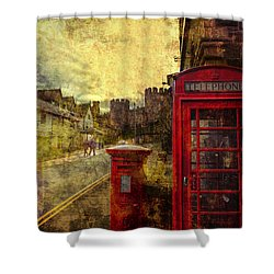 Castle Steet Conwy Shower Curtain by Mal Bray