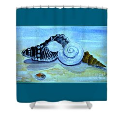 Shower Curtain featuring the painting Castles In The Sand by Leanne Seymour