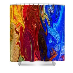 Castles Made Of Sand II Shower Curtain by Omaste Witkowski