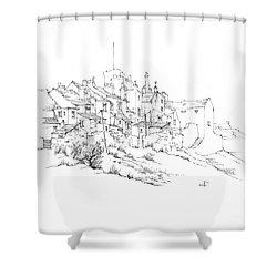 Castletown Coastal Houses Shower Curtain