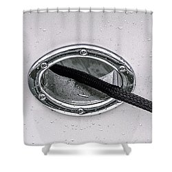Shower Curtain featuring the photograph Cat Hole And Hawser No2 by Marty Saccone