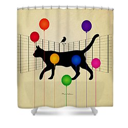 cat Shower Curtain by Mark Ashkenazi