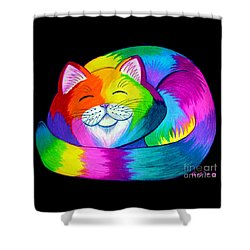 Cat Napping 2 Shower Curtain by Nick Gustafson