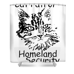 Cat Patrol Homeland Security Shower Curtain