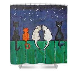Cat Tails Shower Curtain
