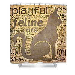 Cat Typography Shower Curtain