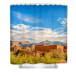 Shower Curtain featuring the photograph Catalina Foothills Morning by Dan McManus