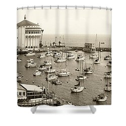 Catalina Island. Avalon Shower Curtain by Ben and Raisa Gertsberg