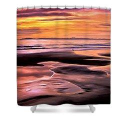 Catalina Sunset Shower Curtain by Michael Pickett