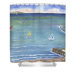 Catalina To Redondo Shower Curtain