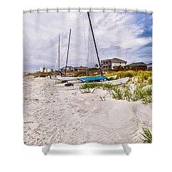 Shower Curtain featuring the photograph Catamaran by Sennie Pierson