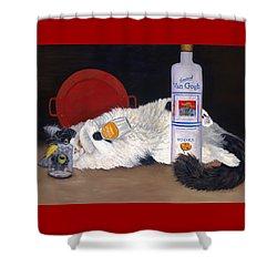 Catatonic Shower Curtain by Karen Zuk Rosenblatt