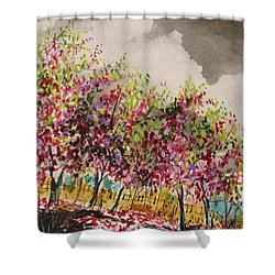 Catbird Haven Shower Curtain by John Williams