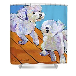 Catch Me     Shower Curtain by Pat Saunders-White