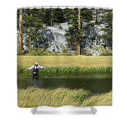 Catch Of The Day - Eastern Sierra California Shower Curtain