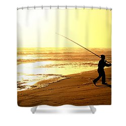 Catching The Last Rays... Shower Curtain by A Rey