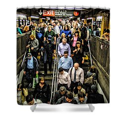Catching The Subway Shower Curtain