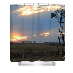 Catching The Wind In South Dakota Shower Curtain by Mary Carol Story