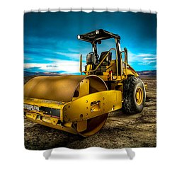 Caterpillar Cat Roller Cs563e Shower Curtain