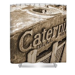 Caterpillar Vintage Shower Curtain