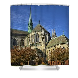 Cathedral Basilica Of The Sacred Heart Shower Curtain by Susan Candelario