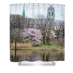 Cathedral Basilica Shower Curtain by Sonali Gangane