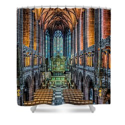 Cathedral Chapel Shower Curtain by Adrian Evans