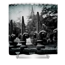 Cathedral Fence Shower Curtain by Scott Pellegrin