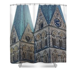 Cathedral In Bremen Shower Curtain