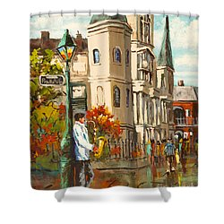 Cathedral Jazz Shower Curtain by Dianne Parks
