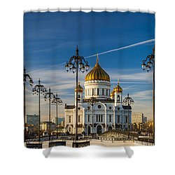 Cathedral Of Christ The Savior 3 - Featured 3 Shower Curtain by Alexander Senin