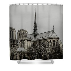 Cathedral Of Notre Dame De Paris Shower Curtain by Marco Oliveira