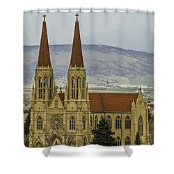 Cathedral Of St Helena Shower Curtain by Sue Smith