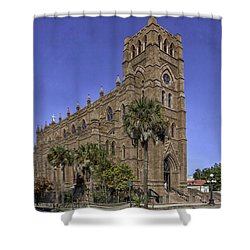 Cathedral Of St. John The Baptist Charleston Shower Curtain by Lynn Palmer